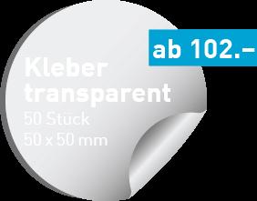 Transparente Kleber drucken | kleberdrucken.ch